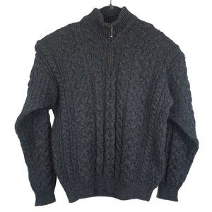 Blarney Woollen Mills Gray Cable Knit Sweater S